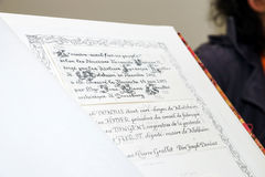 Old styled handwritten of books Royalty Free Stock Photo