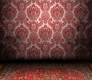 Old Styled Interior. And a Persian carpet Stock Image