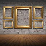Old Styled Interior. With golden frames Stock Image