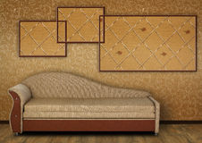 Old Styled Interior. With sofa Stock Images