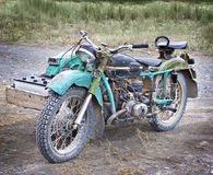 Old styled motorcycle Royalty Free Stock Photos