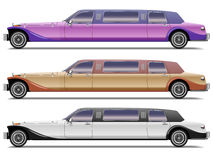 Old-styled realistic limousines Stock Image