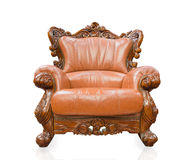 Old styled sofa vintage armchair furniture isolated on white bac Royalty Free Stock Photos