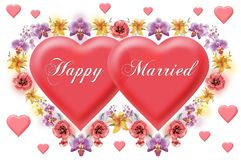 Old styled valentine's cards heart Royalty Free Stock Image