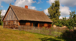 Old stylish cottage in polish countryside Stock Photography