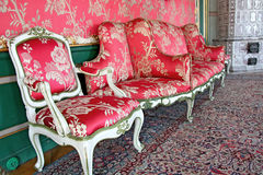 Old stylish interior. Luxury interior in Polish palace Nieborow Stock Photography
