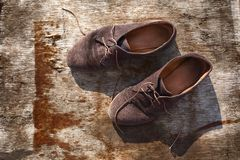 Old stylish shoes Royalty Free Stock Photography