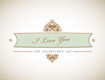 Old stylish Valentine's sign. Royalty Free Stock Image
