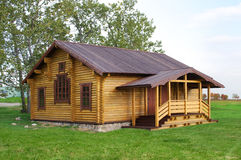 Old stylish wooden cottage. A traditional Russian wooden cottage Stock Image