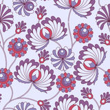 Old stylized flower. Seamless abstract vintage pattern with old stylized flower on the brunch Stock Photography