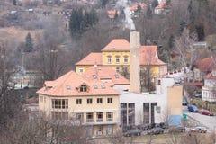 Old stylized house in Czeshcky Kroumlov Stock Photos