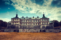 Old stylized Pidhirtsi Castle, village Podgortsy, Renaissance Pa Stock Images