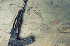 Old submachine gun  kalashnikov  AK-47 Stock Photo