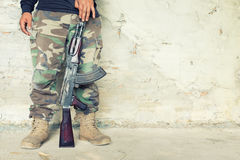 Old submachine gun  kalashnikov  AK-47 Royalty Free Stock Photography