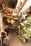 Old submarine diesel engine compartment Stock Photos