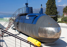Old submarine near the Tivat, Montenegro Stock Images