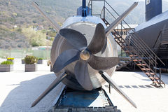 Old submarine near the Tivat, Montenegro Royalty Free Stock Photos