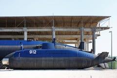 Old submarine near the Tivat, Porto Montenegro Stock Image