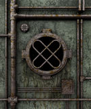 Old submarine porthole Stock Photo