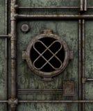 Old submarine porthole stock photo
