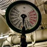 Submarine speed gauge royalty free stock image