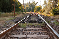 Old suburban railroad Royalty Free Stock Images