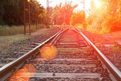 Old suburban railroad Royalty Free Stock Photo