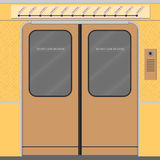 Old subway train doors Royalty Free Stock Photography