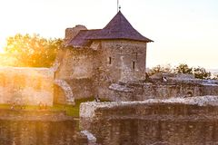 Old Suceava Fortress, medieval castle royalty free stock photography