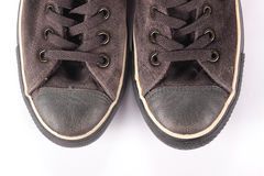 Old suede sneakers Stock Image