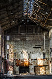 Old sugar factory. The interior of and old sugar factory Royalty Free Stock Images