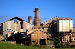 The old sugar mill. Decaying sugar mill on kauai Royalty Free Stock Images