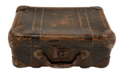 Old suit-case royalty free stock photo