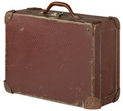 Old suitcase. Old brown suitcase brown color Royalty Free Stock Images