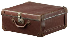 Old suitcase. Old brown suitcase Stock Photos