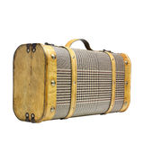 Old suitcase. Classic suitcase with clipping path Royalty Free Stock Images