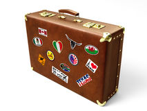 Old suitcase stock illustration