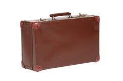 Old suitcase. On white background Stock Photos
