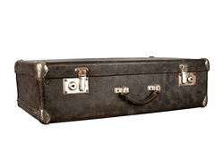 Old suitcase. With an isolation on a white background Stock Image
