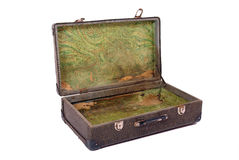 Old suitcase. This is very very old suitcase in white background Stock Photography
