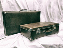 Old suitcase brown Royalty Free Stock Images