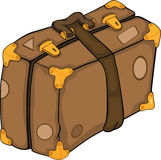 Old suitcase.Cartoon Royalty Free Stock Photography