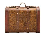 Old Suitcase with clipping path. Isolation is on a transparent layer in the PNG format stock image