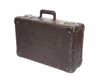 Old suitcase with clipping path Stock Images