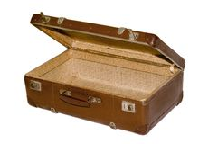 Old suitcase with clipping path Royalty Free Stock Photography