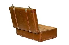 Old suitcase with clipping path Royalty Free Stock Photo