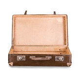 Old suitcase close-up isolated Royalty Free Stock Photo