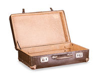 Old suitcase close-up isolated Royalty Free Stock Photography