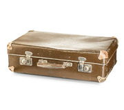 Old suitcase close-up isolated Royalty Free Stock Images