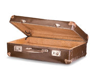 Old suitcase close-up isolated Stock Image